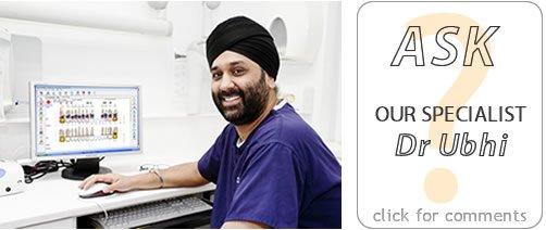 Dental implant surgeon planning tooth implants Dr Boota Ubhi