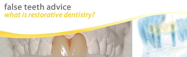 false teeth and restorative dentistry